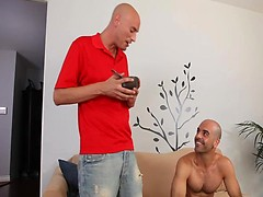 Bald pals Adam Russo and Troy Michaels fucking