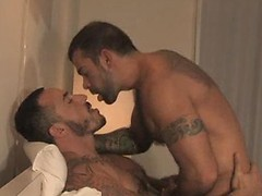 Hairy muscle hunk Steve Cruz & Alessio Romero fuck