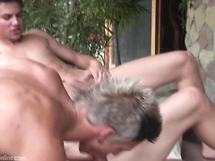 Hot sexy boys  Adam Archuleta, Billy Cotton and Dario Dolce have anal sex