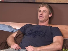 Jake Moon stroking dick and toying ass