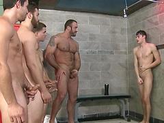 Jizz Shower - JO - Jizz Orgy - Spencer Reed - Tommy Defendi - Jimmy Johnson - Jack King - Hunter Page