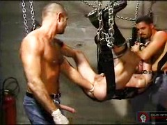 Eric Lawrence, Mack Kurtis and  Tom Vaccaro in Powersurge - fisting in a sling