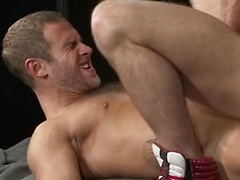 Bearded man gets his ass fucked