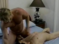 Good looking dark male gets a cock!