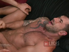 Michael Lucas meets with the sexy muscle-stud performer Adam Killian