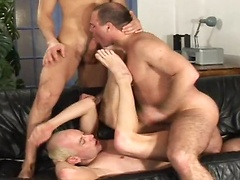 Three dicks and three tight asses!