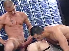 Two gays playing with an ass hole