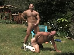 Hunks fucking in nature.