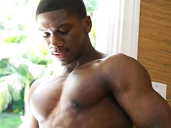 Sam has been camming with us for a while and is really excited to do a full solo for us. Sam has a body that defies the imagination. His biceps, his chest, his ass , they are all too much to handle. He strips for us as the sun beams down on his chest, lik