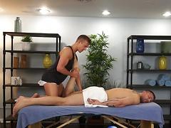Austin Wolf and Skylar West in a hot Gay Porn Massage