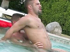 Angel Rock & Adam Wirthmore fucking in a pool