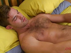 Straight Hairy Travis Shows off His Muscular & Ripped Body & Ultra Hard Uncut Cock!