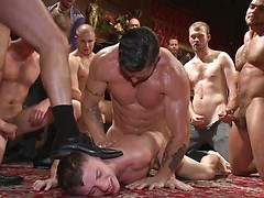 Giant cock stud relentlessly fucked & tossed around like a ragdoll