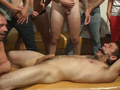 Relentlessly flogged, drenched in cum and tickled to the extreme!