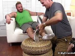 Aaron Bruiser Lets Me Worship His Big Sexy Feet - Aaron