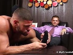 Tyrell';s Sexy Feet Worshiped by Ricky Larkin - Tyrell