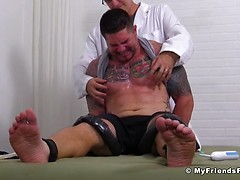Clint Gets Naked Tickle Torture Treatment - Clint