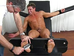 Bryce Evans Gets Tickled In The Tickle Chair - Bryce
