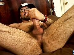 Jerking His Straight Hairy Dick - Spanky