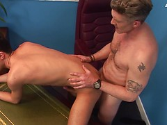 Young office junior goes to any fucking lengths to please his hyper-horny manager! HD