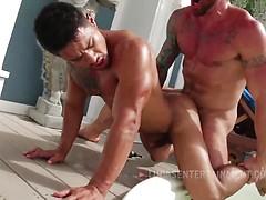 Hugh Hunter And Xavier Hux - Raw Hot Tub Action