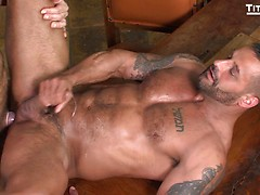 RENT: David Benjamin gives Daddy Dallas Steele his ass and mouth to pay the rent
