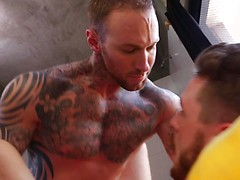 Dylan James Fucks His Workout Bud Josh Rider Bareback
