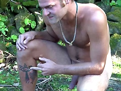Furry Surfer Nickolas is Back! Opens Hole, Pees, Drips Jizz, and Busts a Big Load in Hawaii!