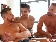 Logan Moore Gets DP'd by Josh & Ricky Roman
