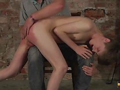 New Twink Spanked Red Raw! - Lyle Boyce And Sebastian Kane