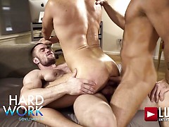 Stas Landon and Jack Andy double penetrate Brian Bonds after hours